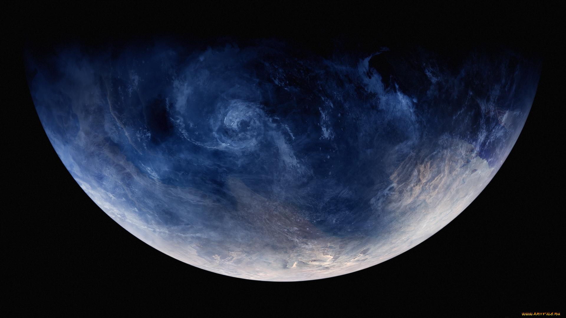 космос, арт, вселенная, планета
